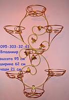 """Подставка для цветов """"Узор на 7 больших чаш (вертикальный)"""""""