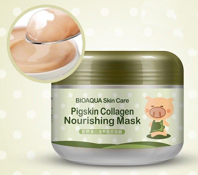 Питательная коллагеновая маска для лица Маска BioAqua Pigskin Collagen Nourishing Mask 100 g
