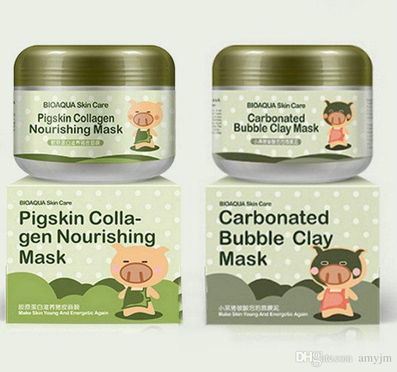 Набор: Очищающая кислородная (карбонатная) маскаBioaqua Carbonated  + Питательная коллагеновая