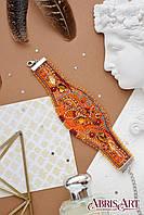 """Набор для вышивки бисером украшение-браслет """"Осеннее золото"""", фото 1"""