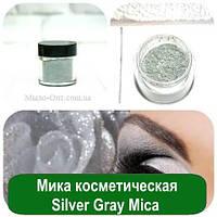 Мика косметическая Silver Gray Mica, 3 грамма
