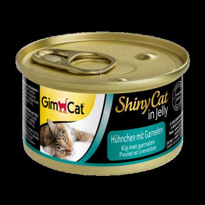 Консервы Gimpet Shiny Cat Chiken Shrimp для кошек с креветками и кусочками цыпленка, 70 г
