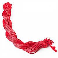 Нить шнур для шамбалы красный моток L8м d-1,5мм