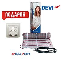 Теплый пол DEVI нагревательный мат двухжильный DTIR-150/1500 Ват/10м² +в подарок терморегулятор Arnold Rak