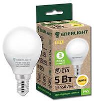 Сфера Лампа светодиодная ENERLIGHT P45 6Вт 4100K E14 Ш.К. 4823093500235