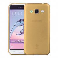 Чехол INCORE Four Edges для Samsung J700 J7 2015 Gold (PC-002059)