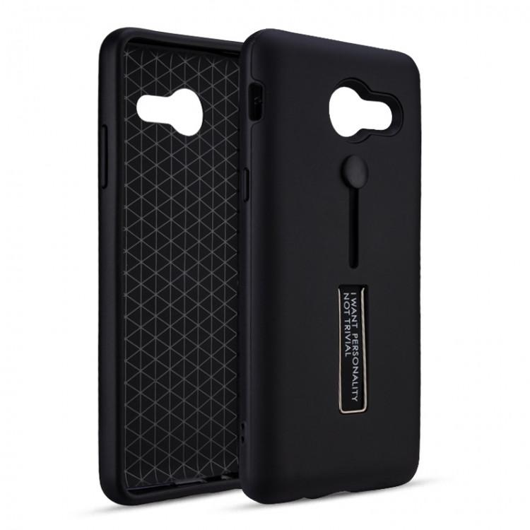 Чехол с подставкой и кольцом Fashion Hard Case для Samsung Galaxy A5 2017 Black (PC-001351)