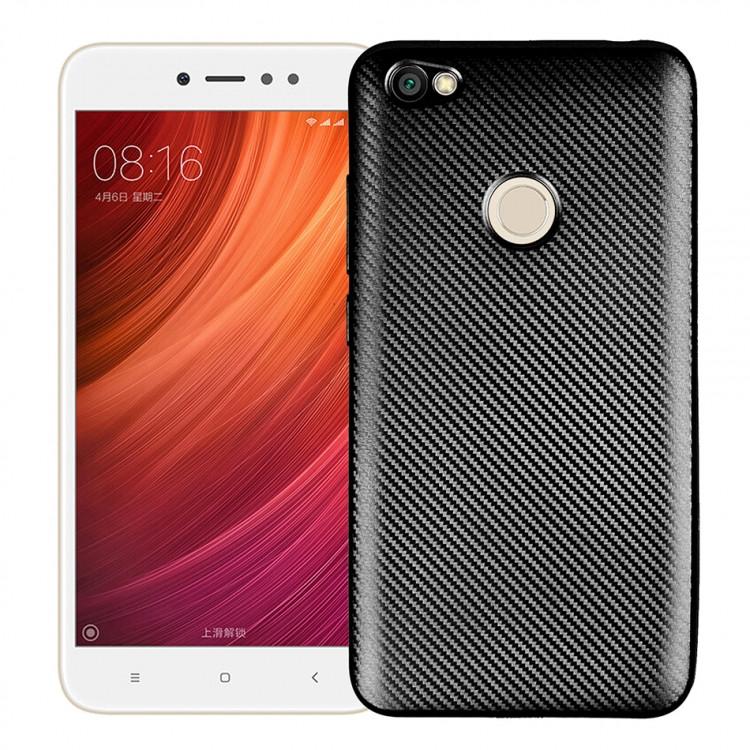 Чехол Fashion TPU Carbon для Xiaomi Redmi Note 5A Black (PC-001883)