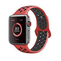 Ремешок Fitness для Apple Watch Series 1 Sport 42 mm Red Black (684511)