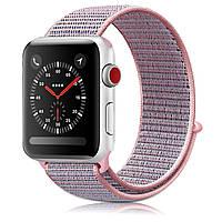 Ремешок New Generation для Apple Watch Series 3 Sport Loop 42 mm Pink Sand (100745), фото 1