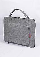Чехол-сумка универсальная из войлока для Macbook Pro 15 Grey (4582 - airmac)