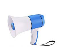 Рупор ручной мегафон переносной HM-130U USB MP3, сирена, запись на 3 минуты