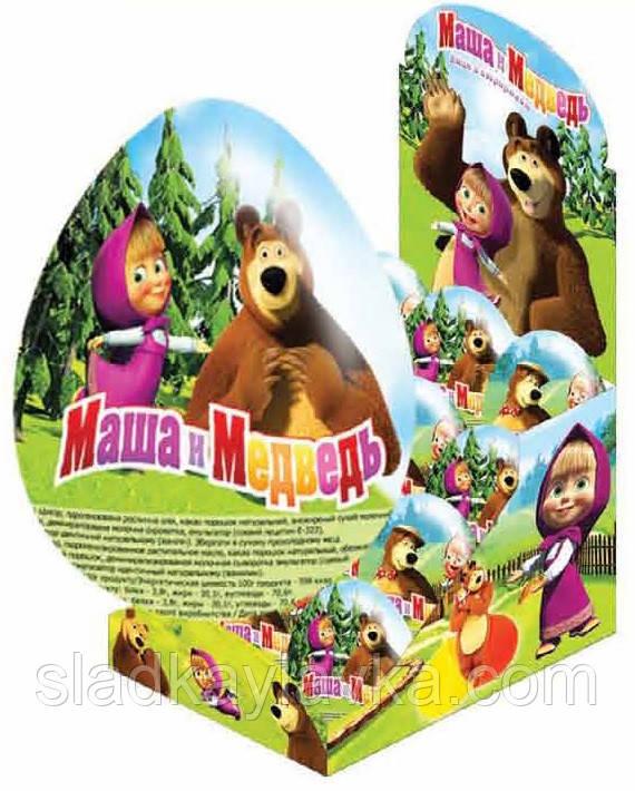 Яйцо шоколадное Маша и Медведь, 24 шт, 25 гр (ANL)