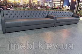 Большие диваны для залов ожидания (Светло-серые)
