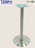 Опора для столу з круглим підставою Tempo 11.183.18.02 чорне підстава, хромована опора, фото 2