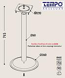 Опора для столу з круглим підставою Tempo 11.183.18.02 чорне підстава, хромована опора, фото 3