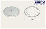 Опора для столу з круглим підставою Tempo 11.183.18.02 чорне підстава, хромована опора, фото 4