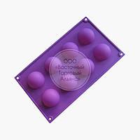 Силиконовая форма - Полусфера - 8 ячеек