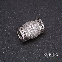 Намистина Xuping Пандора родій 12х8мм d-in-4,5 мм