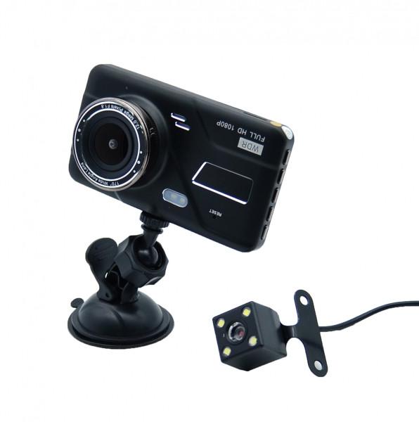 """Авторегистратор DVR H528 4"""" Full HD с выносной камерой заднего вида видеорегистратор большой экран 4"""""""