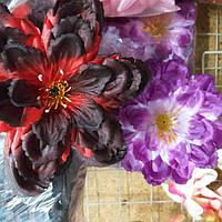 Искусственные цветы. атлас, фото 1