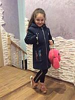 Детское пальто кашемир с капюшоном, фото 1