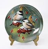 Колекційна порцелянова тарілка, фарфор, The Chickadee, Knowles, Англія, 1986 рік, фото 2