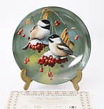 Колекційна порцелянова тарілка, фарфор, The Chickadee, Knowles, Англія, 1986 рік, фото 3