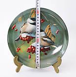 Колекційна порцелянова тарілка, фарфор, The Chickadee, Knowles, Англія, 1986 рік, фото 4