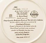 Колекційна порцелянова тарілка, фарфор, The Chickadee, Knowles, Англія, 1986 рік, фото 6