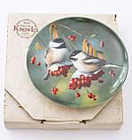 Колекційна порцелянова тарілка, фарфор, The Chickadee, Knowles, Англія, 1986 рік, фото 7