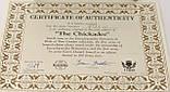 Колекційна порцелянова тарілка, фарфор, The Chickadee, Knowles, Англія, 1986 рік, фото 8
