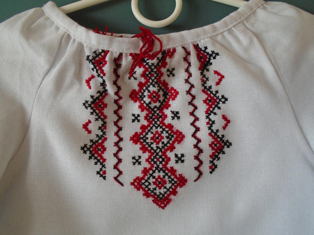 d39417070e4c61 Вишиванка для дівчинки від 2-3 років на білому домотканому полотні, фото 2  ...