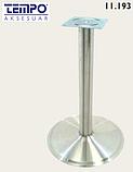 Опора для стола с круглым основанием Tempo 11.193.18.02 черное основание, хромированная стойка, фото 2