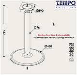 Опора для стола с круглым основанием Tempo 11.193.18.02 черное основание, хромированная стойка, фото 3