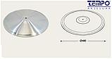 Опора для стола с круглым основанием Tempo 11.193.18.02 черное основание, хромированная стойка, фото 4