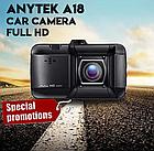 """Авторегистратор видеорегистратор Anytek A-18 крепление на присоске 1 камера 3"""" Full HD 12 Мп датчик удара, фото 5"""