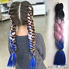 🖤💗💙 Каникалон омбре пряди цветные искуссвенных волос для кос 🖤💗💙, фото 8
