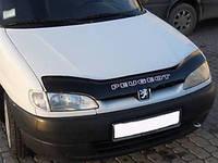 Дефлектор капота (мухобойка) Peugeot Partner 1996-2002, Vip Tuning, PG09