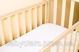 Наматрасник детский непромокаемый на резинке с бортом по всему периметру 120*60 белый