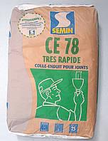 Шпаклевка Семин ЦЕ 78 финишная гипсовая для заделки швов гипсокартона 25 кг., фото 1