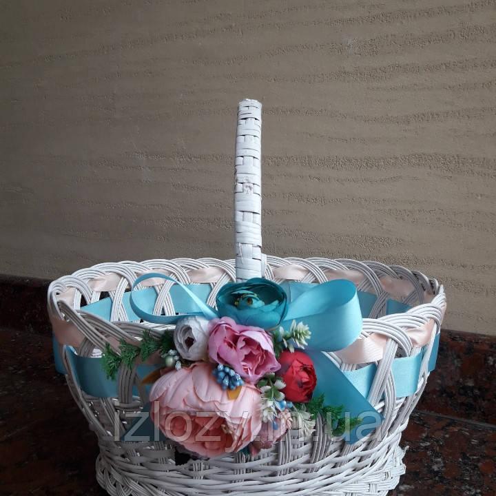 Декоративная корзина в сиреневым цвете, фото 1