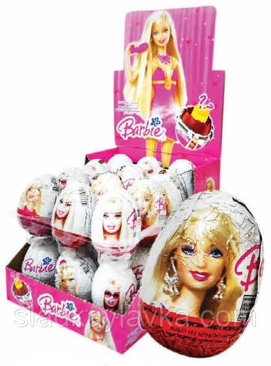 Яйцо шоколадное Барби 24 шт, 25 гр (ANL)