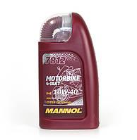 Моторне масло Mannol 4Takt 7812 Motorbike 10w40 1л Jaso MA2