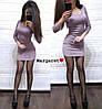 Платье, стрейч трикотаж с люрексовой нитью. Размер:42-44. Цвета разные. (6088), фото 3