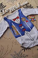 """Детский нарядный боди для мальчика """"Джентельмен"""" 2,5 года.Турция!!Детские бодики для новорожденных"""