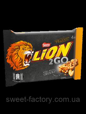 Lion 2 Go Peanut Упаковка 4 батончика