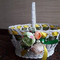 Декоративная корзина из лозы, фото 1