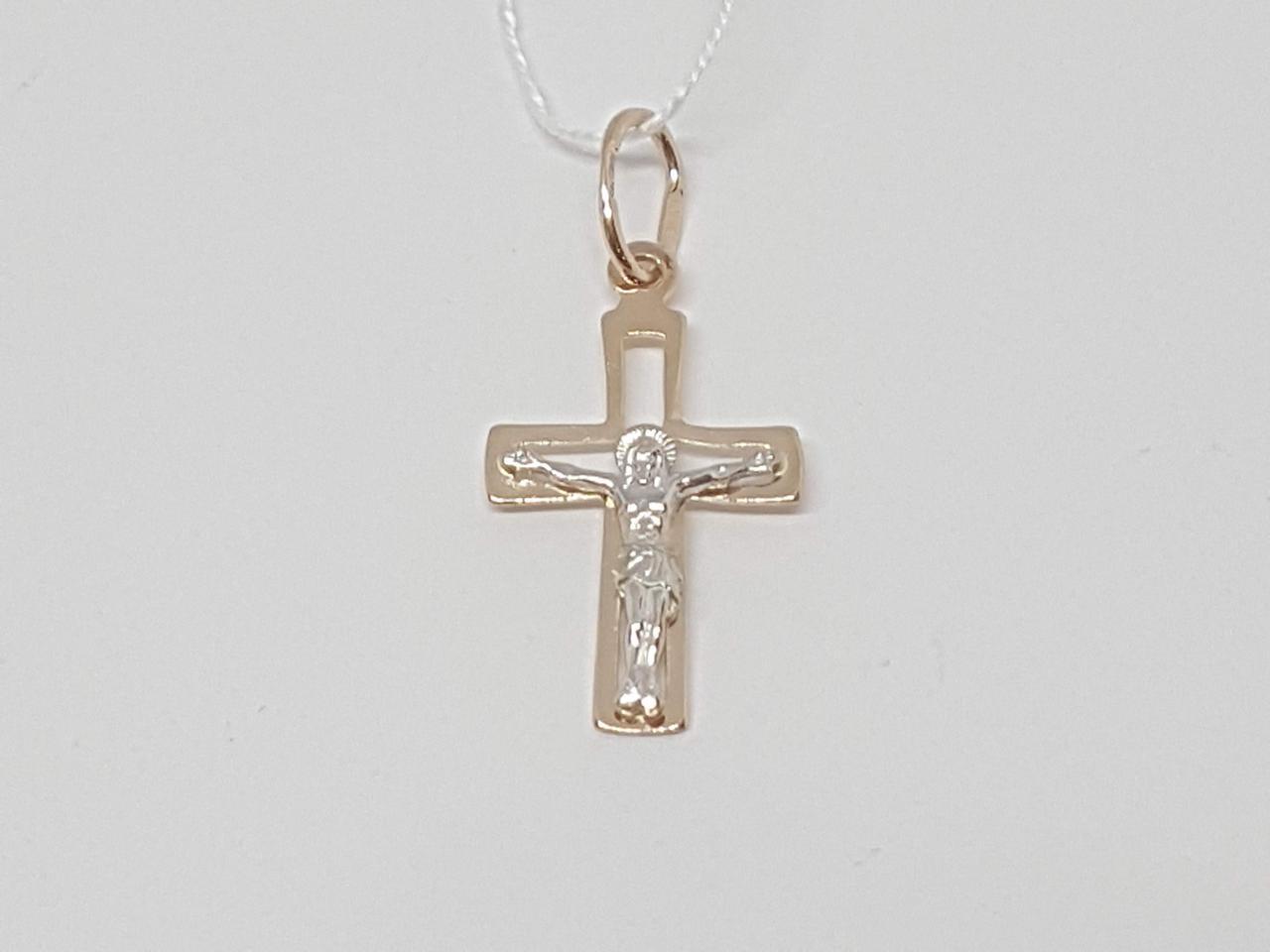 Золотий хрестик Розп'яття Христа. Артикул 518703