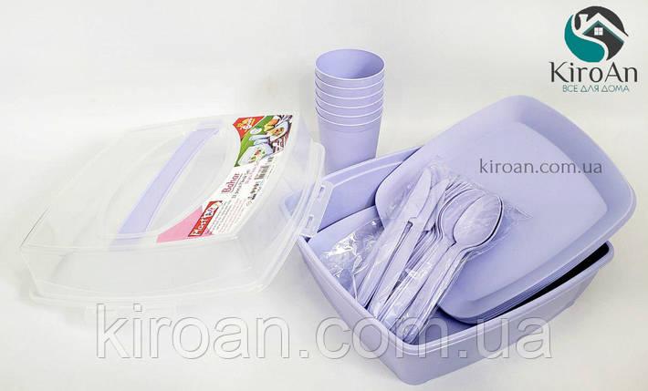Набор для пикника в контейнере на 6 персон (32 предмета) IrakPlast, Турция SP-180, фото 2